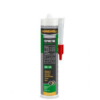 KUDO герметик  DoneWell силикон санитар прозрач. DSK120 (260мл/12)